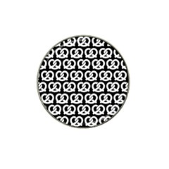 Black And White Pretzel Illustrations Pattern Hat Clip Ball Marker (10 Pack) by creativemom