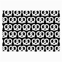 Black And White Pretzel Illustrations Pattern Large Glasses Cloth (2 Side) by creativemom