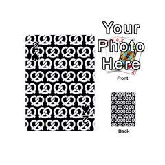 Black And White Pretzel Illustrations Pattern Playing Cards 54 (Mini)  by creativemom