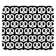 Black And White Pretzel Illustrations Pattern Double Sided Flano Blanket (small)  by creativemom