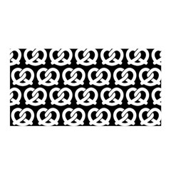 Black And White Pretzel Illustrations Pattern Satin Wrap by creativemom