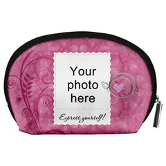 Pretty Pink Accessory Pouch By Lil    Accessory Pouch (large)   Mxm7ag9ttyy8   Www Artscow Com Back