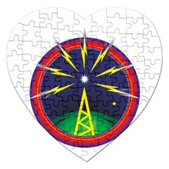 Broadcast Jigsaw Puzzle (heart) by theimagezone
