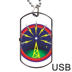 Broadcast Dog Tag Usb Flash (one Side) by theimagezone