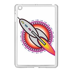 Space Rocket Apple Ipad Mini Case (white) by theimagezone