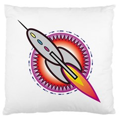 Space Rocket Standard Flano Cushion Cases (Two Sides)  by theimagezone