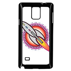 Space Rocket Samsung Galaxy Note 4 Case (Black) by theimagezone