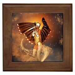 Beautiful Angel In The Sky Framed Tiles by FantasyWorld7