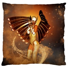 Beautiful Angel In The Sky Large Flano Cushion Cases (One Side)