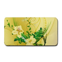 Wonderful Soft Yellow Flowers With Leaves Medium Bar Mats by FantasyWorld7