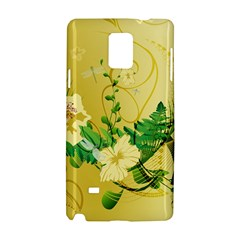 Wonderful Soft Yellow Flowers With Leaves Samsung Galaxy Note 4 Hardshell Case by FantasyWorld7