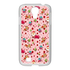 Red Christmas Pattern Samsung Galaxy S4 I9500/ I9505 Case (white) by KirstenStar