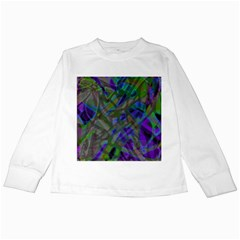 Colorful Abstract Stained Glass G301 Kids Long Sleeve T Shirts by MedusArt