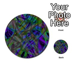 Colorful Abstract Stained Glass G301 Multi Purpose Cards (round)  by MedusArt