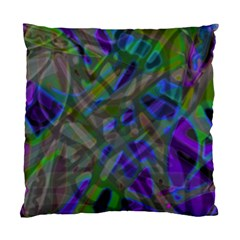 Colorful Abstract Stained Glass G301 Standard Cushion Case (one Side)  by MedusArt