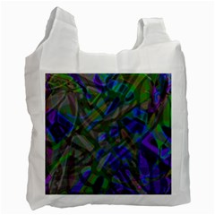 Colorful Abstract Stained Glass G301 Recycle Bag (one Side) by MedusArt