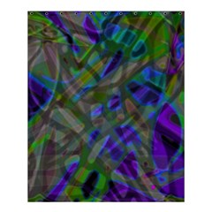 Colorful Abstract Stained Glass G301 Shower Curtain 60  X 72  (medium)  by MedusArt