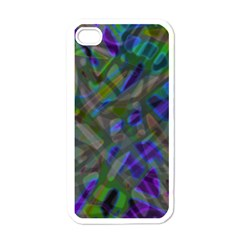 Colorful Abstract Stained Glass G301 Apple Iphone 4 Case (white) by MedusArt