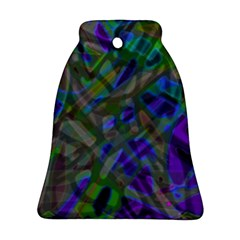 Colorful Abstract Stained Glass G301 Bell Ornament (2 Sides) by MedusArt
