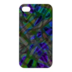 Colorful Abstract Stained Glass G301 Apple Iphone 4/4s Premium Hardshell Case by MedusArt
