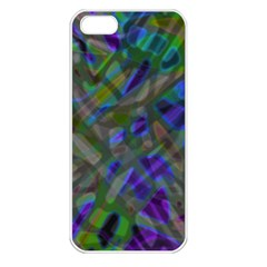 Colorful Abstract Stained Glass G301 Apple Iphone 5 Seamless Case (white) by MedusArt