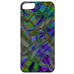 Colorful Abstract Stained Glass G301 Apple Iphone 5 Classic Hardshell Case by MedusArt