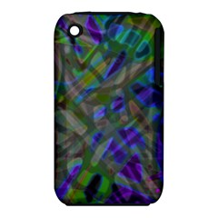Colorful Abstract Stained Glass G301 Apple Iphone 3g/3gs Hardshell Case (pc+silicone) by MedusArt