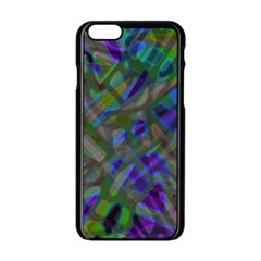 Colorful Abstract Stained Glass G301 Apple Iphone 6/6s Black Enamel Case by MedusArt