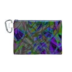 Colorful Abstract Stained Glass G301 Canvas Cosmetic Bag (m) by MedusArt