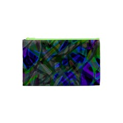 Colorful Abstract Stained Glass G301 Cosmetic Bag (xs) by MedusArt