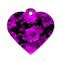 Phenomenal Blossoms Hot  Pink Dog Tag Heart (one Side) by MoreColorsinLife