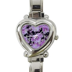 Phenomenal Blossoms Lilac Heart Italian Charm Watch by MoreColorsinLife