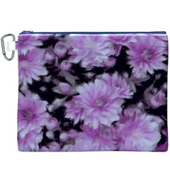 Phenomenal Blossoms Lilac Canvas Cosmetic Bag (xxxl)  by MoreColorsinLife