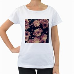 Phenomenal Blossoms Soft Women s Loose-Fit T-Shirt (White) by MoreColorsinLife