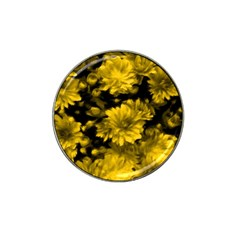 Phenomenal Blossoms Yellow Hat Clip Ball Marker (4 pack) by MoreColorsinLife