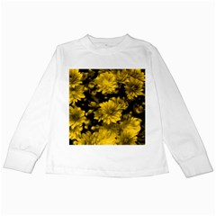 Phenomenal Blossoms Yellow Kids Long Sleeve T-Shirts by MoreColorsinLife