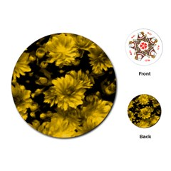 Phenomenal Blossoms Yellow Playing Cards (round)  by MoreColorsinLife