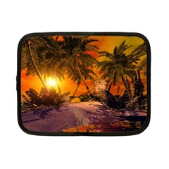 Wonderful Sunset In  A Fantasy World Netbook Case (small)  by FantasyWorld7