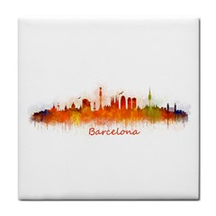 Barcelona City Art Face Towel by hqphoto