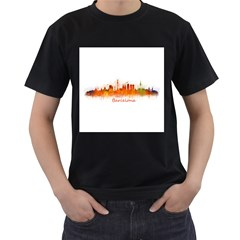 Barcelona City Art Men s T Shirt (black) by hqphoto