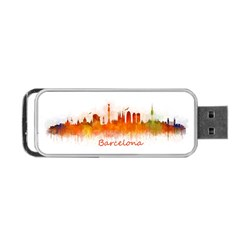 Barcelona City Art Portable Usb Flash (two Sides) by hqphoto