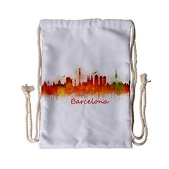 Barcelona City Art Drawstring Bag (small) by hqphoto