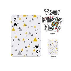Pastel Random Triangles Modern Pattern Playing Cards 54 (mini)  by Dushan