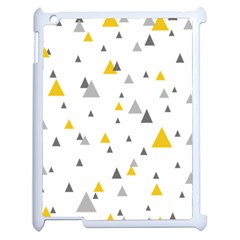 Pastel Random Triangles Modern Pattern Apple Ipad 2 Case (white) by Dushan