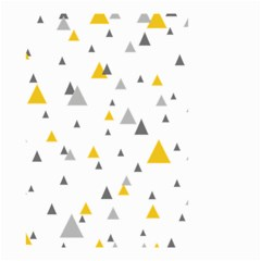 Pastel Random Triangles Modern Pattern Small Garden Flag (two Sides) by Dushan