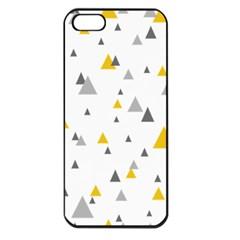Pastel Random Triangles Modern Pattern Apple Iphone 5 Seamless Case (black) by Dushan