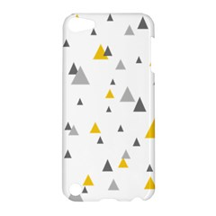 Pastel Random Triangles Modern Pattern Apple Ipod Touch 5 Hardshell Case by Dushan