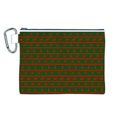 Ugly Christmas Sweater  Canvas Cosmetic Bag (l) by CraftyLittleNodes