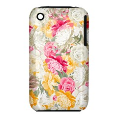 Colorful Floral Collage Apple Iphone 3g/3gs Hardshell Case (pc+silicone) by Dushan