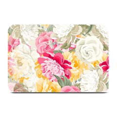 Colorful Floral Collage Plate Mats by Dushan